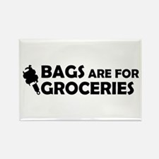 Grocery Bags Rectangle Magnet