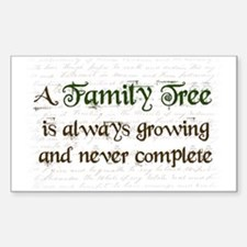a Family Tree is... Decal