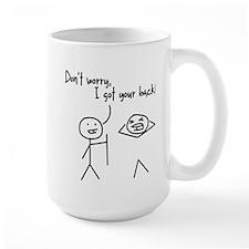 Unique Funny I Got Your Back Stick Figures Ceramic Mugs