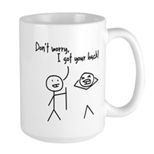 Unique Funny I Got Your Back Stick Figures Mug