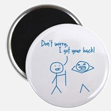 Unique Funny I Got Your Back Stick Figures Magnet