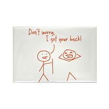 Unique Funny I Got Your Back Stick Figures Rectang