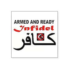 "SHARIA FREE Square Sticker 3"" x 3"""
