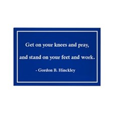 Gordon B. Hinckley's Advice Rectangle Magnet