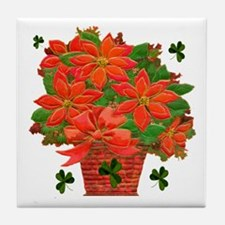 Poinsettia Basket Tile