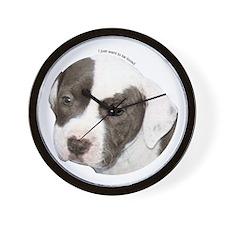 American pit bull terrier pup copy.png Wall Clock