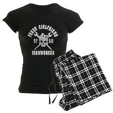 Proud Girlfriend of an Ironworker - WHITE Pajamas