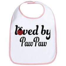 Loved By PawPaw Ladybug Bib