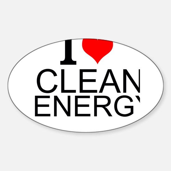 I Love Clean Energy Decal
