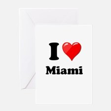 I Heart Love Miami.png Greeting Card