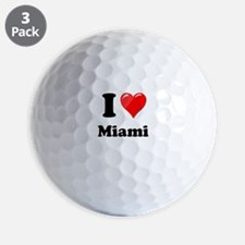I Heart Love Miami.png Golf Ball