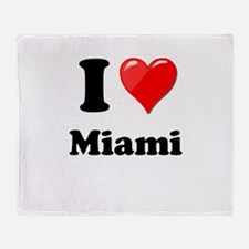 I Heart Love Miami.png Throw Blanket
