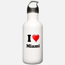 I Heart Love Miami.png Water Bottle
