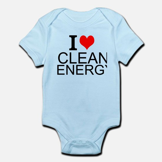 I Love Clean Energy Body Suit
