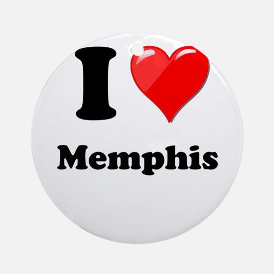 I Heart Love Memphis.png Ornament (Round)