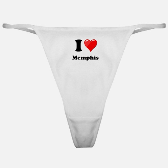 I Heart Love Memphis.png Classic Thong
