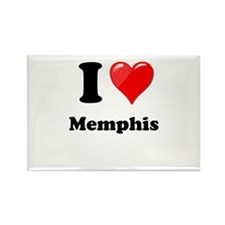 I Heart Love Memphis.png Rectangle Magnet