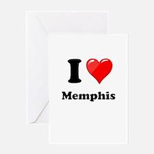 I Heart Love Memphis.png Greeting Card