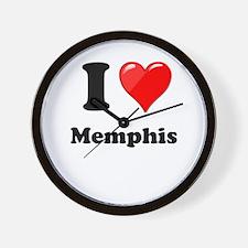 I Heart Love Memphis.png Wall Clock