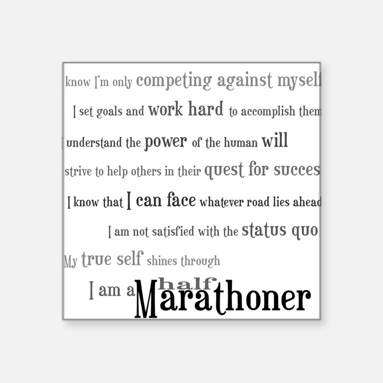 I'm a Half Marathoner Rectangle Sticker