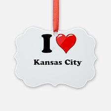 I Heart Love Kansas City.png Ornament