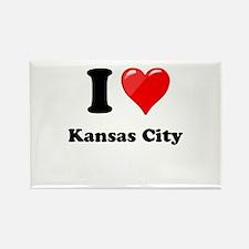 I Heart Love Kansas City.png Rectangle Magnet