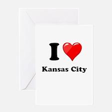 I Heart Love Kansas City.png Greeting Card