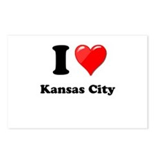 I Heart Love Kansas City.png Postcards (Package of