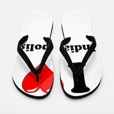 I Heart Love Indianapolis.png Flip Flops