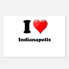 I Heart Love Indianapolis.png Postcards (Package o
