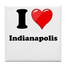I Heart Love Indianapolis.png Tile Coaster
