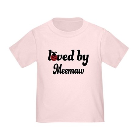 Loved By Meemaw Ladybug Toddler T-Shirt