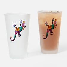 Hibiscus Lizard Drinking Glass