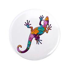 "Hibiscus Lizard 3.5"" Button"