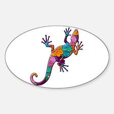 Hibiscus Lizard Decal