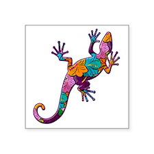 """Hibiscus Lizard Square Sticker 3"""" x 3"""""""