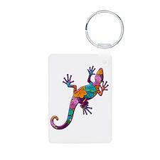 Hibiscus Lizard Keychains