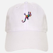 Hibiscus Lizard Baseball Baseball Cap