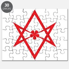 Unicursal hexagram (Red) Puzzle