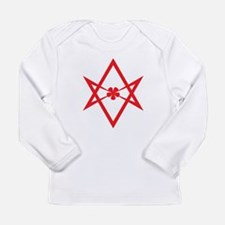 Unicursal hexagram (Red) Long Sleeve Infant T-Shir