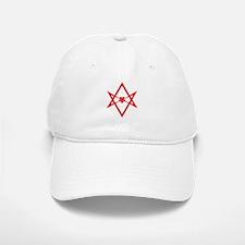 Unicursal hexagram (Red) Baseball Baseball Cap