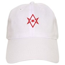 Unicursal hexagram (Red) Baseball Cap