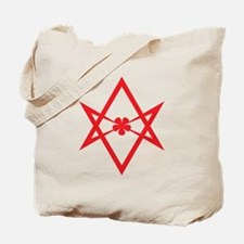 Unicursal hexagram (Red) Tote Bag