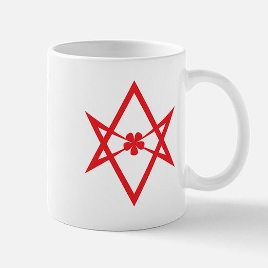 Unicursal hexagram (Red) Mug