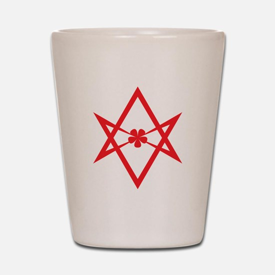 Unicursal hexagram (Red) Shot Glass