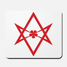 Unicursal hexagram (Red) Mousepad