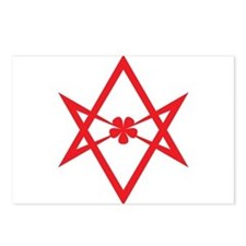 Unicursal hexagram (Red) Postcards (Package of 8)