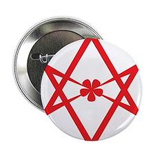 "Unicursal hexagram (Red) 2.25"" Button (10 pack)"