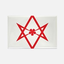 Unicursal hexagram (Red) Rectangle Magnet