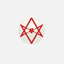 Unicursal hexagram (Red) Mini Button